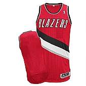 Revolution 30 Blazers Blank Red Stitched NBA Jersey