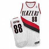 Revolution 30 Blazers #88 Nicolas Batum White Stitched NBA Jersey