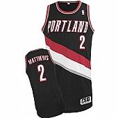 Revolution 30 Blazers #2 Wesley Matthews Black Stitched NBA Jersey