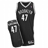Revolution 30 Brooklyn Nets #47 Andrei Kirilenko Black Road Stitched NBA Jersey