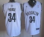 Revolution 30 Brooklyn Nets #34 Paul Pierce White Home Stitched NBA Jersey