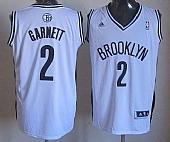 Revolution 30 Brooklyn Nets #2 Kevin Garnett White Home Stitched NBA Jersey