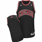 Revolution 30 Chicago Bulls Blank Black Stitched NBA Jersey