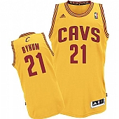 Revolution 30 Cleveland Cavaliers #21 Andrew Bynum Yellow Alternate Stitched NBA Jersey