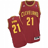 Revolution 30 Cleveland Cavaliers #21 Andrew Bynum Red Road Stitched NBA Jersey