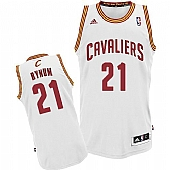 Revolution 30 Cleveland Cavaliers #21 Andrew Bynum White Home Stitched NBA Jersey