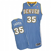 Revolution 30 Denver Nuggets #35 Kenneth Faried Baby Blue Stitched NBA Jersey