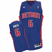Revolution 30 Detroit Pistons #6 Josh Smith Blue Stitched NBA Jersey
