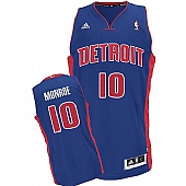 Revolution 30 Detroit Pistons #10 Greg Monroe Blue Stitched NBA Jersey