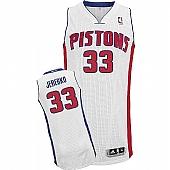Revolution 30 Detroit Pistons #33 Jonas Jerebko White Stitched NBA Jersey
