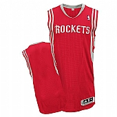 Revolution 30 Houston Rockets Blank Red Road Stitched NBA Jersey