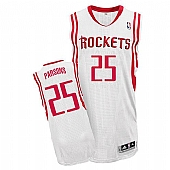 Revolution 30 Houston Rockets #25 Chandler Parsons White Home Stitched NBA Jersey