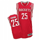 Revolution 30 Houston Rockets #25 Chandler Parsons Red Road Stitched NBA Jersey