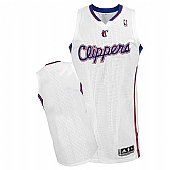 Revolution 30 Los Angeles Clippers Blank White Stitched NBA Jersey
