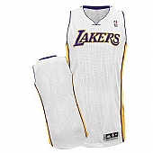 Revolution 30 Los Angeles Lakers Blank White Stitched NBA Jersey