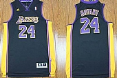 Revolution 30 Los Angeles Lakers #24 Kobe Bryant Black(Purple NO.) Stitched NBA Jersey