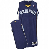Revolution 30 Memphis Grizzlies Blank Dark Blue Stitched NBA Jersey