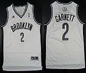 Revolution 30 Nets #2 Kevin Garnett White Home Embroidered NBA Jersey