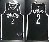 Revolution 30 Nets #2 Kevin Garnett Black Road Embroidered NBA Jersey