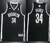 Revolution 30 Nets #34 Paul Pierce Black Road Embroidered NBA Jersey