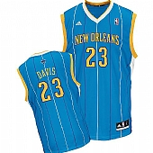 Revolution 30 New Orleans Hornets #23 Anthony Davis Baby Blue Stitched NBA Jersey