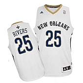 Revolution 30 New Orleans Pelicans #25 Austin Rivers White Stitched NBA Jersey
