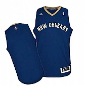 Revolution 30 New Orleans Pelicans Blank Navy Stitched NBA Jersey