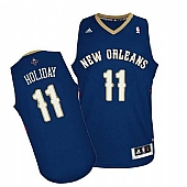 Revolution 30 New Orleans Pelicans #11 Jrue Holiday Navy Stitched NBA Jersey