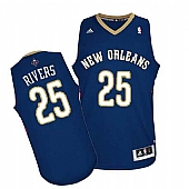Revolution 30 New Orleans Pelicans #25 Austin Rivers Navy Stitched NBA Jersey