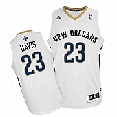 Revolution 30 New Orleans Pelicans #23 Anthony Davis White Stitched NBA Jersey