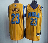 Revolution 30 New Orleans Hornets #23 Anthony Davis Yellow Stitched NBA Jersey