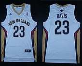 Revolution 30 Pelicans #23 Anthony Davis White Stitched NBA Jersey