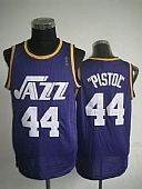 Utah Jazz #44 Pete Maravich Purple (Pistol) Soul Swingman Stitched NBA Jersey