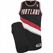 Revolution 30 Portland Trail Blazers Blank Black Stitched NBA Jersey