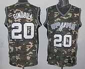 Spurs #20 Manu Ginobili Camo Stealth Collection Stitched NBA Jersey