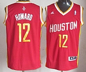 Revolution 30 Rockets #12 Dwight Howard Red Alternate Embroidered NBA Jersey