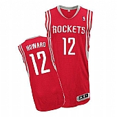 Revolution 30 Rockets #12 Dwight Howard Red Road Embroidered NBA Jersey