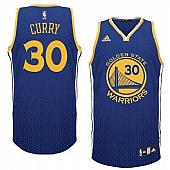 Warriors #30 Stephen Curry Blue Resonate Fashion Swingman Stitched NBA Jersey