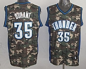 Thunder #35 Kevin Durant Camo Stealth Collection Stitched NBA Jersey