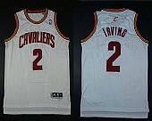 Cavaliers #2 Kyrie Irving White Revolution 30 Stitched NBA Jersey