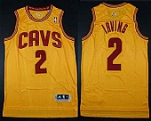 Cavaliers #2 Kyrie Irving Yellow Alternate Stitched NBA Jersey