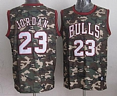 Bulls #23 Michael Jordan Camo Stealth Collection Stitched NBA Jersey