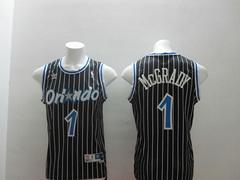 Orlando Magic #1 Tracy McGrady Blake stripe Revolution 30 Swingman Jersey