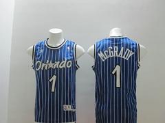 Orlando Magic #1 Tracy McGrady Blue stripe Revolution 30 Swingman Jersey