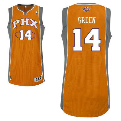 adidas Phoenix Suns 14 Gerald Green Authentic Alternate Orange Jersey