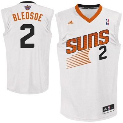 adidas Eric Bledsoe Phoenix Suns 2013 New Logo Revolution 30 Home Replica Jersey - White