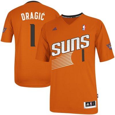 Adidas NBA 1 Goran Dragic Phoenix Suns Revolution 30 Alternate Swingman 2013 2014 New Logo Orange Jersey
