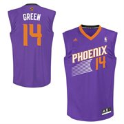 Adidas Phoenix Suns 14 Gerald Green Authentic Alternate Jersey-purple