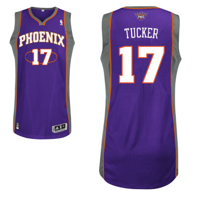 adidas Phoenix Suns 17 P.J Tucker Authentic Road Jersey-purple