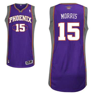 Adidas Phoenix Suns #15 Marcus Morris Authentic Road purple Jersey